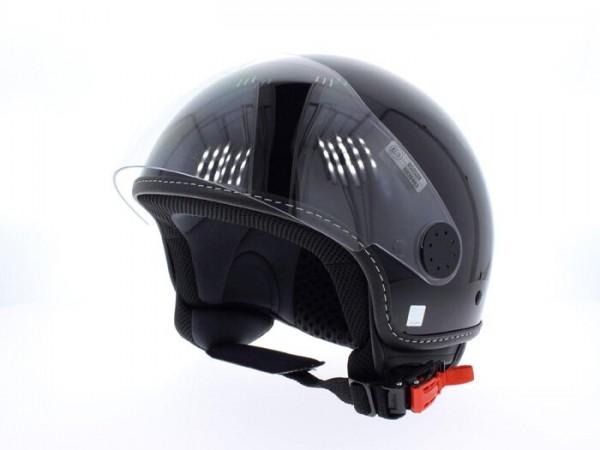 Helm -VESPA Visor 2- schwarz glänzend - XL (61-62cm)