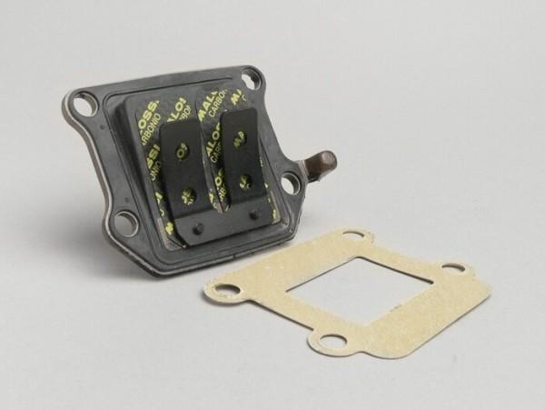 Membranblock -MALOSSI MHR-Replica- Minarelli 50 ccm (vertikal) - Carbon - BOOSTER, BUMP50, BWS50, SLIDER50, SPY, SR50 (-1994), STUNT, ZUMA50, AMICO