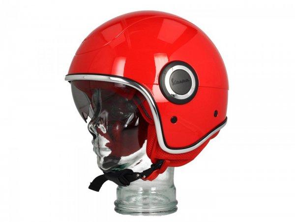 Helmet -VESPA VJ1- open face helmet, (RED) Rosso Passione R7 (894) - L (59-60cm)