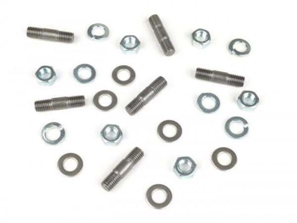 Stehbolzen-Set für Getriebeabdeckplatte -MB DEVELOPMENTS- Lambretta LI, LIS, SX, TV (Serie 2-3), DL, GP, J50, J100, J125, Lui