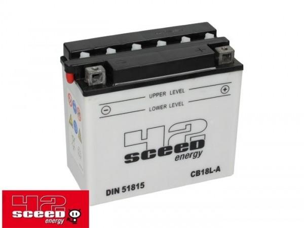 Batterie -Standard SCEED 42 Energy- CB18L-A - 12V, 18Ah - 182x92x164mm (inkl. Säurepack)