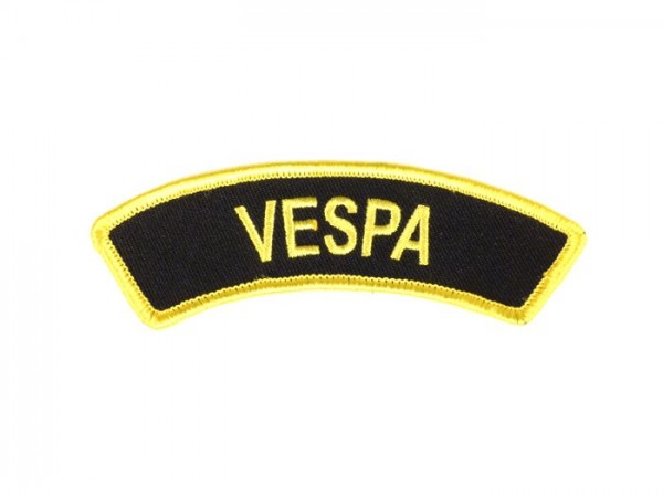 Patch thermocollant -VESPA- noir/jaune - épaule - 100x35mm