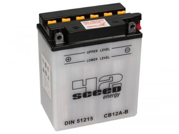 Batterie -Standard SCEED 42 Energy- CB12A-B - 12V, 12Ah - 135x81x161mm (inkl. Säurepack)