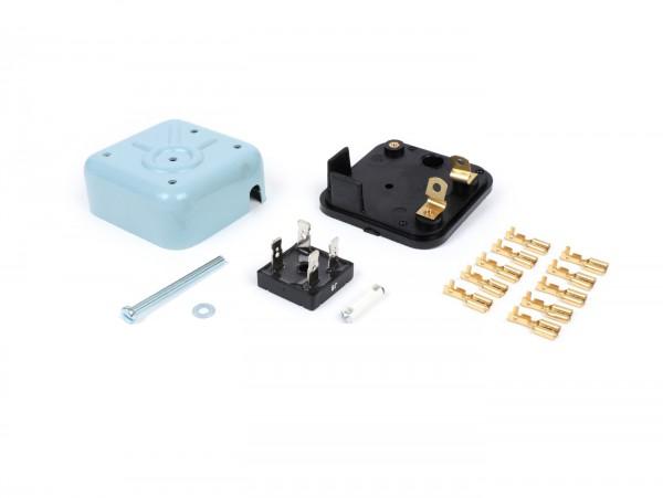 Gleichrichter -BGM ORIGINAL DIY Kit- Vespa VNB1T, VBA1T, VBB1T, GL (VLA1T), SS180 (VSC1T - Modelle mit Batterie), GT (VNL2T), Super (VNC1T, VBC1T), Rally200, Sprint (VLB1T)