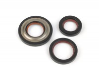Oil seal set engine -MALOSSI PTFE/FKM, 19mm cone- Vespa V50, V90, SS50, SS90, PV125, ET3, PK S