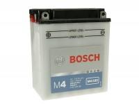 Batterie -Standard BOSCH 12N12A-4A-1 / YB12A-A- 12V 12Ah - 136x82x162mm (inkl. Säurepack)