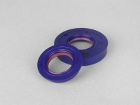 Oil seal set for crankshaft -POLINI PTFE/FKM- Minarelli 50 cc MA, MY, CW, CA, CY