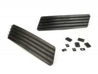 Side panel grille set -CASA LAMBRETTA- Lambretta DL, GP - black