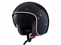 Helmet -SHIRO SH235 Fiber, open face helmet- black - XXL (63-64cm)