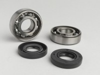 Bearing and oil seal set for crankshaft -OEM QUALITY- Derbi 50cc