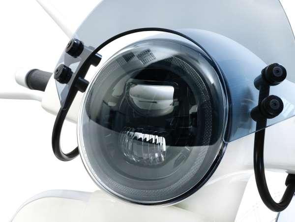 Scheinwerfer -MOTO NOSTRA- LED HighPower - GTS i.e. Super 125-300 - (-2018, auch passend für GT, GTS, GTL) - schwarzer Reflektor