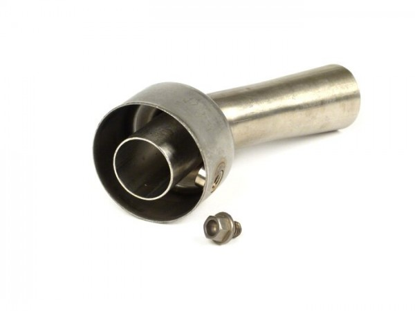 dB-eater -Akrapovic Ø18mm- Vespa GTL 200, GTS 125-300 ie Super, GTV 250-300 ie - stainless steel (Øinside=18mm, Øoutside=43mm, length=80mm)