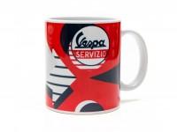 Mug -FORME- Vespa, Servizio - red with arrow