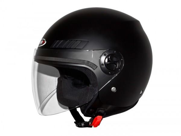 Helm -SHIRO SH62 GS, Jet-Helm- schwarz - M (57-58 cm)