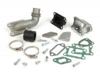 Intake manifold - for reed valve -MALOSSI V2.0 reed valve, direct intake 136cc MK2, MK3, MK4, MHR- Vespa PK S/XL - CS=30mm