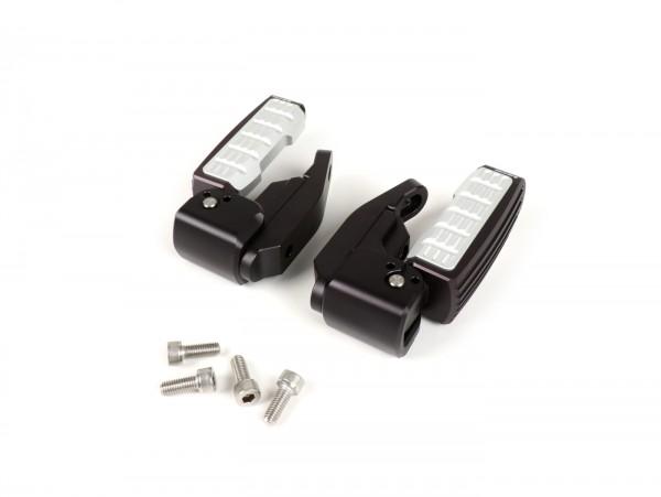 Pair of foot pegs -BIKERS- Vespa GT, GT L, GTS 125-300, GTV, GTS 125-300 Super - black