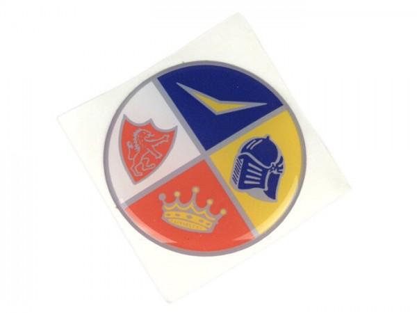 Anagrama para embellecedor horquilla -FA ITALIA- Vespa 1954-1979 - anagrama de 4 colores