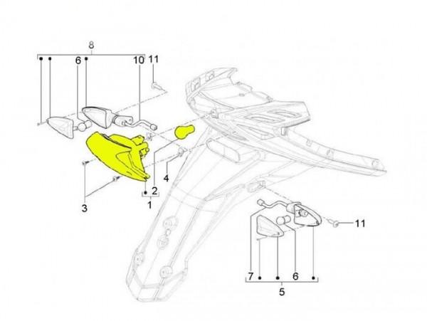 Rücklicht -PIAGGIO- New TPH (ab Bj. 2010) (LBMC501, LBMM701, ZAPM501)