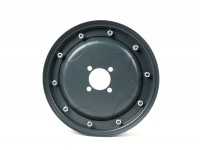 Wheel rim -MAURO PASCOLI 2.10-10 inch, steel, star- Vespa GS150 (VS1-4), Messerschmidt GS3 (VD1T, VD2T) - also as wheel rim for conversion from 8 inch to 10 inch - dark grey