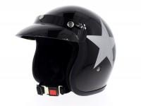 Helm -BANDIT Star Jet- schwarz - XXL (63 cm)