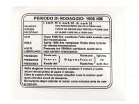 Einfahrvorschrift -LAMBRETTA- J50 - italienisch, Beinschild