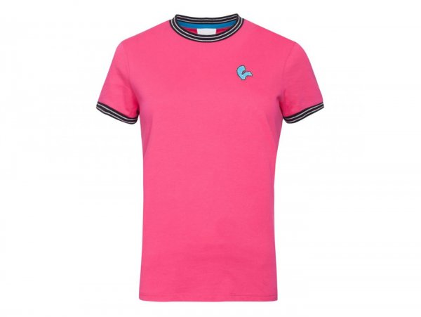 "T-Shirt -VESPA- Woman ""V-Stripes"" - pink - L"