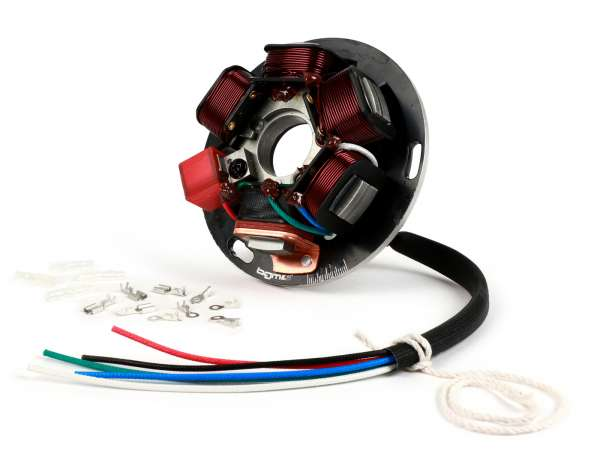 Ignition -BGM PRO stator HP V2.5 silicone (electronic ignition)- Vespa Sprint150 (VLB1T), TS125 (VNL3T), GT125 (VNL2T), GTR125 (VNL2T), Super, GL150 (VLA1T), VNA, VNB, VBA, VBB