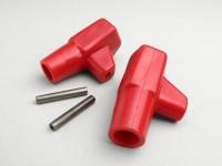Stand feed rubber -LAMBRETTA- LI, LIS, SX, TV, DL, GP - red