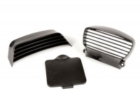 Horn and seat grille set -OEM QUALITÄT- Lambretta DL, GP - plastic
