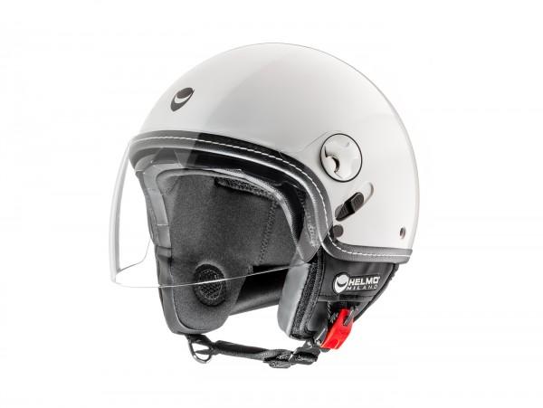 Helm -HELMO MILANO- Demi Jet, Eos, pearl white - XS (53-54cm)