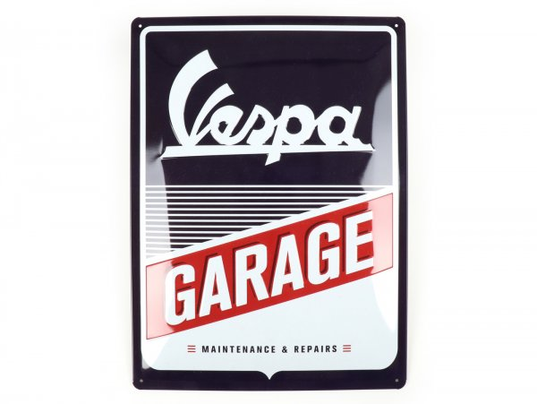 "Pubblicità -Nostalgic Art- Vespa ""Garage"", 15x20cm"
