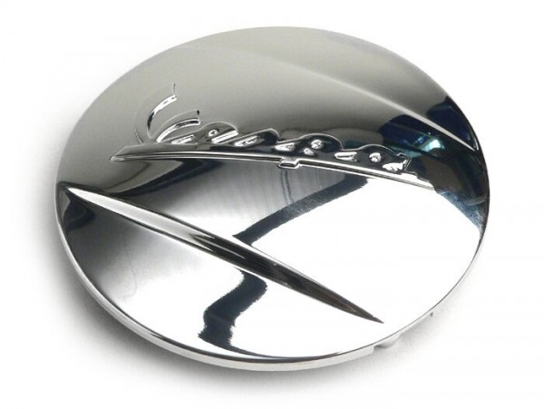 Abdeckung Variodeckel -PIAGGIO- Vespa Schriftzug - Piaggio Leader/Quasar Motor - ET4, LX/LXV125-150, S125-150, GT/GTS/GTV/GTL 125-300 ccm - chrom