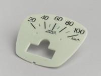 Speedo face -LAMBRETTA- DL 125, GP 125 - 100km/h