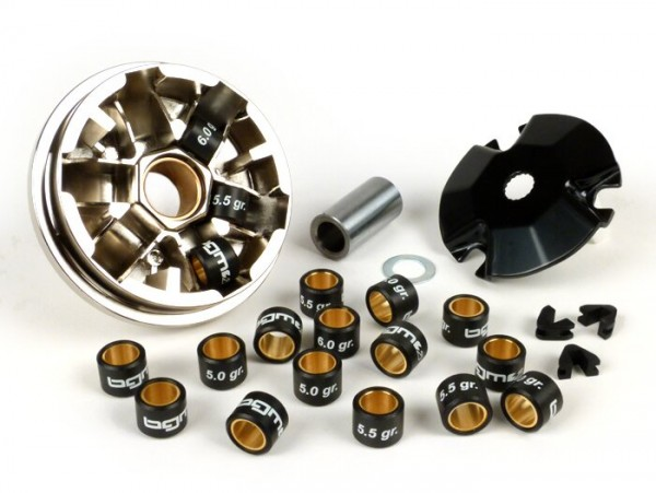 Variomatik -BGM PRO- Minarelli 50 ccm (Typ MA, MY, CW, CA, CY) Aerox, Nitro, SR50 - Gewichte 16x13mm (5.0/5.5/6.0 Gramm)