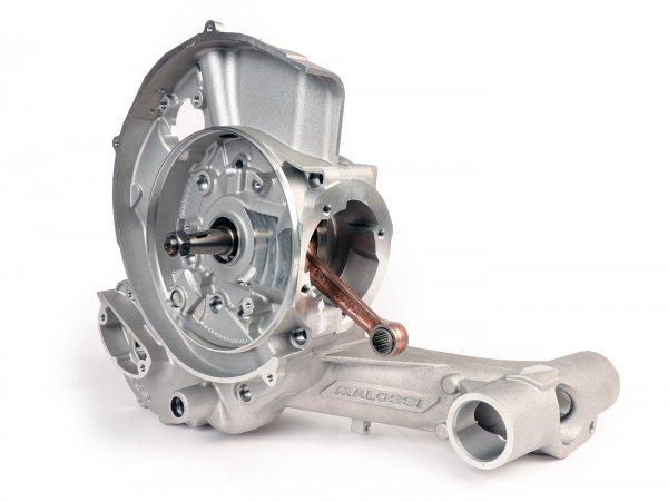 Cárter del motor -MALOSSI VR-One, entrada de diafragma, incl. cigüeñal eje King carrera 62mm, biela 110mm para Quattrini M1X/M1XL, BGM177- Vespa PX80, PX125, PX150, LML Star/Stella 125/150 Elestart