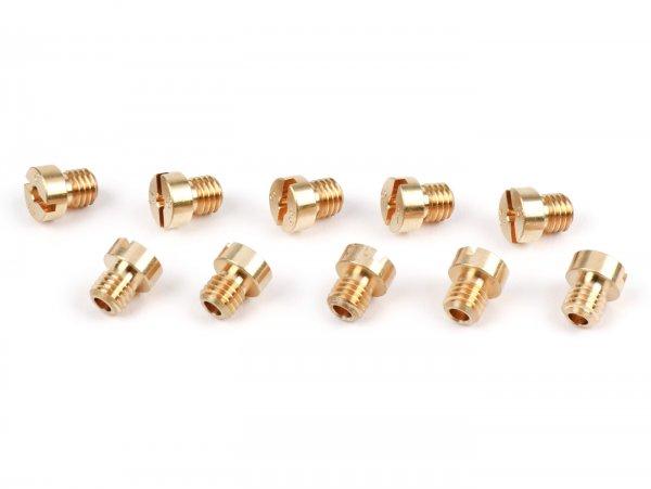 Hauptdüsenset -KMT für Dellorto (Typ: 1486) 5mm- (105-120) - (105-106-107-108-109-110-112-115-118-120)