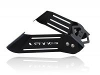 Number plate holder -LENNES- Peugeot Speedfight 3 - black stainless steel