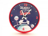 "Wall clock round -VESPA Ø=25cm- ""The world on two wheels with Vespa"""