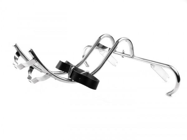Footpegs + spare wheel holder -OEM QUALITY- Vespa GS150/GS3 (VS1-VS5) - stainless steel