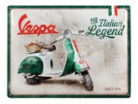 """Chapa de publicidad -Nostalgic Art- Vespa """"Italian Legend"""", 30x40cm"""