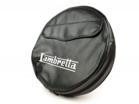 Spare wheel cover -MADE IN VIETNAM- Lambretta 3.50 - 10- black, with pouch, black piping