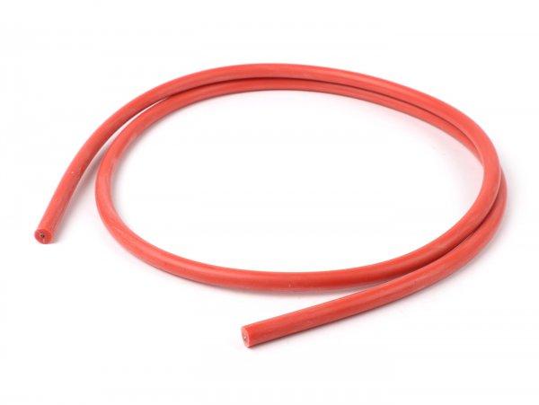Zündkabel -HS- Silikon, 1 Meter, Ø 7 mm, rot
