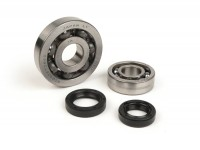 Bearing and oil seal set crankshaft -BGM ORIGINAL- Piaggio 50cc 4-stroke (2005-, Italian engine)