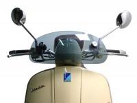 Flyscreen -MOTO NOSTRA, w=435mm, h=195mm- Vespa GTV, GT 60 - smoke grey