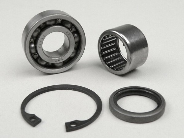 Front hub bearing set (ball bearing and needle roller bearing) -VESPA- PX (1982-), T5 125cc, Cosa, PK, ET2, ET4, Sfera, Quartz, LX, GT125, GTS - Ø=20mm