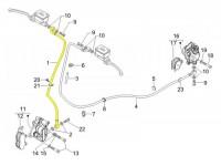 Bremsleitung vorne -PIAGGIO- Vespa GT 250 i.e. 60 (ZAPM451), GTV 125 (ZAPM313), GTV 300 (ZAPM452), GTV 250 i.e. (ZAPM451)