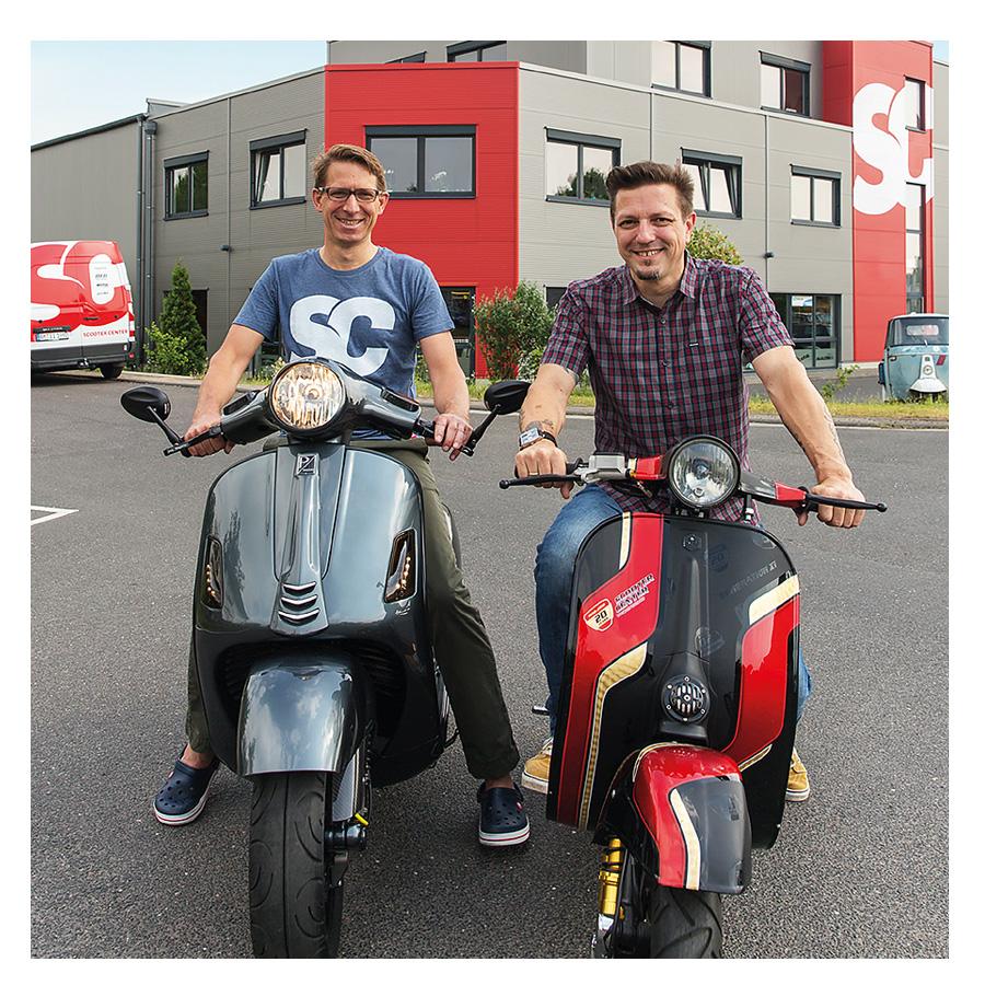 Oliver und Ulf, die Gründer vom Scooter Center