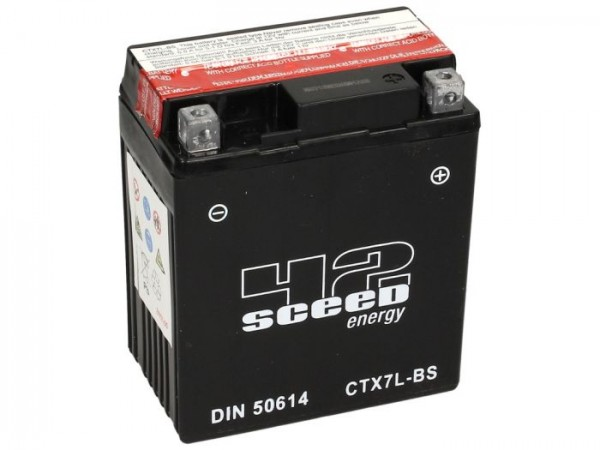 Batterie -Wartungsfrei SCEED 42 Energy- CTX7L-BS - 12V, 6Ah - 114x70x131mm (inkl. Säurepack)