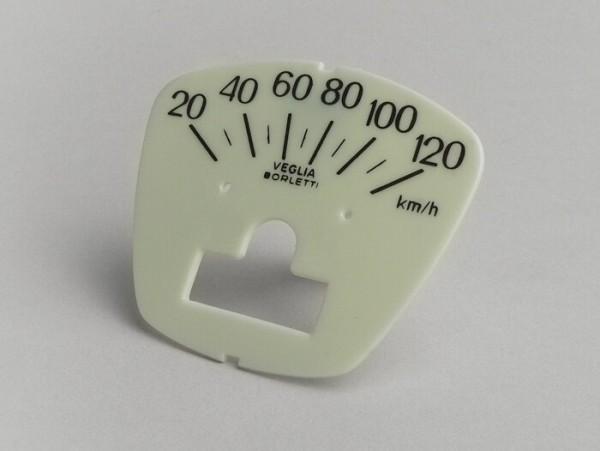 Speedo face -LAMBRETTA- DL 150, GP 150 - 120km/h