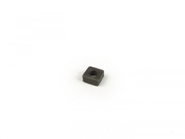 Tuerca cuadrada -DIN 557- M5 (para abrazadera filtro de aire Vespa V50, V90, PV125, ET3, PK, Piaggio Ciao, Bravo, SI)
